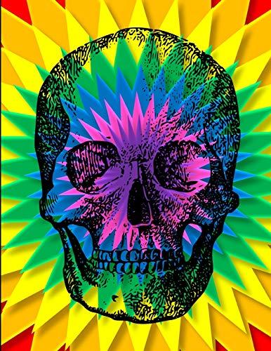 Skull Tie Dye Journal Notebook