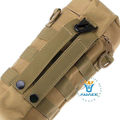 Multifunktions Survival Gear Tactical Beutel MOLLE Beutel Reißverschluss Wasser Flasche Tasche, Outdoor Camping Tragbare Tasche Handtaschen Werkzeug Tasche Reise Tasche KH