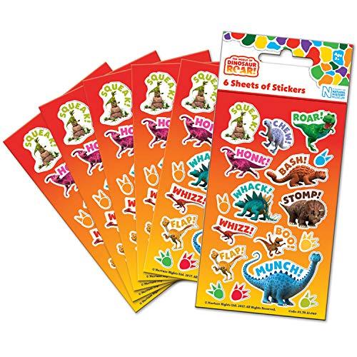 Paper Projects 01.70.15.040 - Adhesivos para Fiesta de Dinosaurio (6 Hojas)