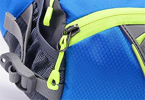 Ibssports Marsupio Sportivo a Tracolla o Spalla da Uomo e Donna impermeabile Borsa in Nylon regolabile in vita a strisce riflessivo Sport Bag all'aperto per escursioni, passeggiate, campeggi, pesca arancione