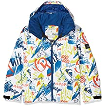 Quiksilver Mission Printed Youth Jk Chaqueta para Nieve, Hombre, Blanco (Snow White Plaid_1), 14/XL