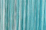 Fadenvorhang Türvorhang 90x250 cm oder 140x250 cm Fadengardine Verschiedene Uni Farben #147 (90x250 türkis)
