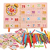 #9: Baybee Premium Wooden Multifunction Learning Box Toys Wooden T Box Calculation Children'S Educational Toy For Boy And Girl