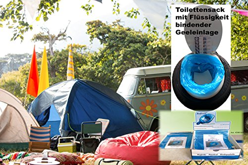Bedwell Camping Toilettenbeutel mit Superabsorber Gel Einlage PE20 PAD