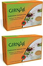 Girnar Instant Tea with Cardamom Saffron (Kesar Elaichi) Pack of 2