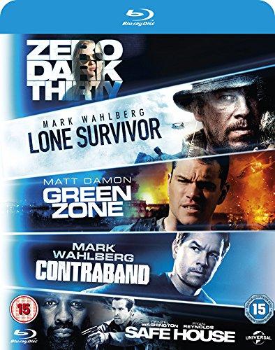 Dark Thirty / Safe House / Green Zone / Contraband [Blu-ray] [2010] [Region Free] (Lone Survivor Dvd-filme)
