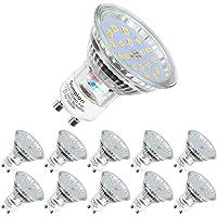 Lampadine LED GU10, 5Watt Pari ad alogene da 60Watt, 600 lumen, Luce Bianca Calda 2700K, Angolo del Fascio di 120 Gradi…