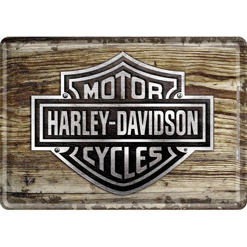 nostalgic-art-10119-harley-davidson-wood-logo-blechpostkarte-10-x-14-cm