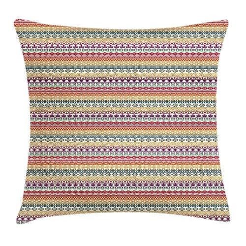 Hectwya Dekokissen Cover Ureinwohner Aztekische traditionelle Kultur Funky Geometric Zig Zag Tribal -