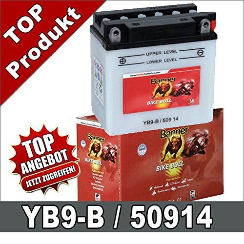 Motorrad Batterie YB9-B, CB9-B 9Ah 12Volt 50914 Banner