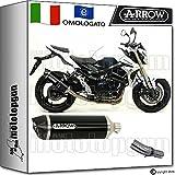 Arrow Kit Auspuff Hom Racetech Aluminium Dark Carby Suzuki GSR 75020141471776AKN + 71442Ich