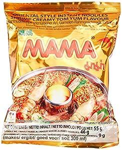 Mama Instant Nudeln Tom Yum Garnelen Créme 55g, 45er Pack (45 x 55 g)
