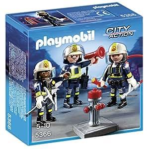 Playmobil - 5366 - Jeu De Construction - Unité De Pompiers