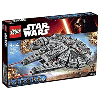One of the most iconic starships of the Star Wars saga is back, and its leaner and meaner than ever before! As featured in exciting scenes from Star Wars: The Force Awakens, this latest LEGO version of the Millennium Falcon is crammed with new and u...