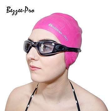 Bonnets de Bain pour Hommes \u0026 Femmes , Bonnets de natation en Silicone  Résistant avec caches oreilles Ergonomiques , Bonnets de piscine  Anti,déchirure