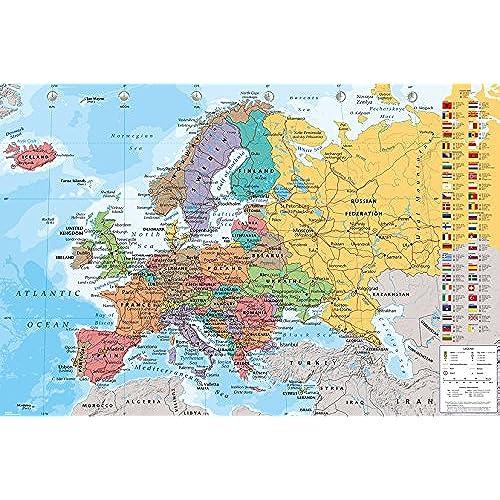 European map amazon gb eye 61 x 915 cm european map maxi poster assorted gumiabroncs Images