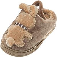 FRAUIT Pantofole Peluche Bambino Animali Ciabatte Bambina Inverno Con Plantare da Casa Scarpe di Cotone Antiscivolo…