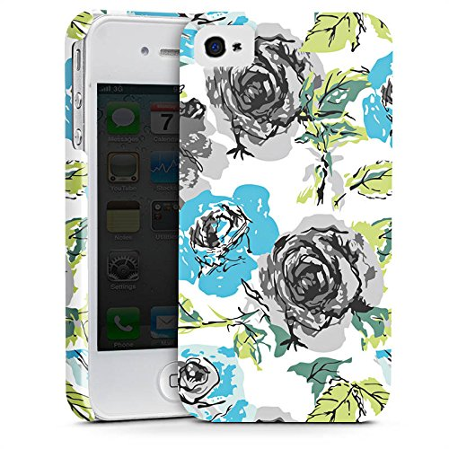 Apple iPhone X Silikon Hülle Case Schutzhülle Rosen Flower Blumenmuster Premium Case glänzend