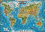 Wereldkaart kinderen plano geplastificeerd/bestel p/set 5425013069823