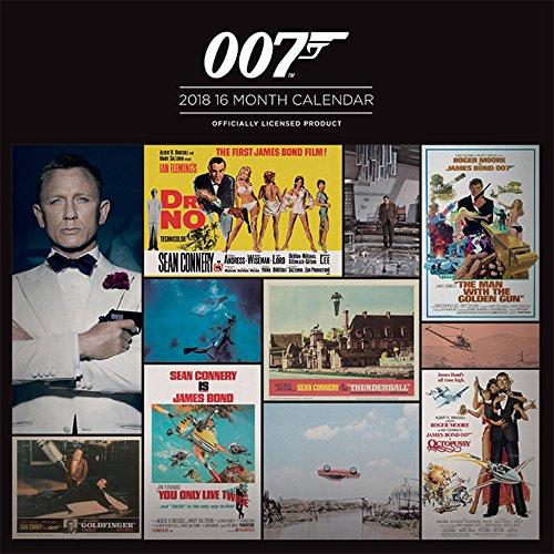 James Bond - Offizieller Film Kalender 2018 - Größe 30x30 + 1 empire® Jahresplaner 2018 gefaltet, 91,5x61 cm