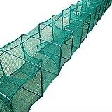 NACHEN fischernetz Köder fischreuse angelzubehör Faltbare Loach Shrimp,Blue,5M