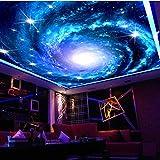 Wongxl 3D Große Wandbilder Sofa Hintergrund Tapete Videos Tapete Wohnzimmer Schlafzimmer Cd Und Eine Galaxie Von Sternen 3D Tapete Hintergrundbild Fresko Wandmalerei Wallpaper Mural 350cmX300cm