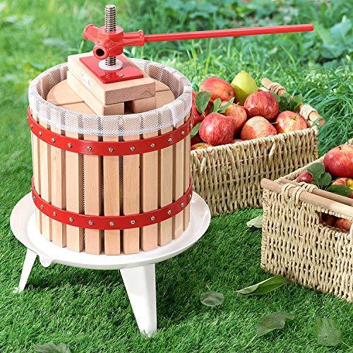 Juskys Mechanische Saftpresse Juicy mit Presstuch | 12 Liter | manuell | Holz | Obst, Beeren und Früchte | Obstpresse Fruchtpresse Beerenpresse