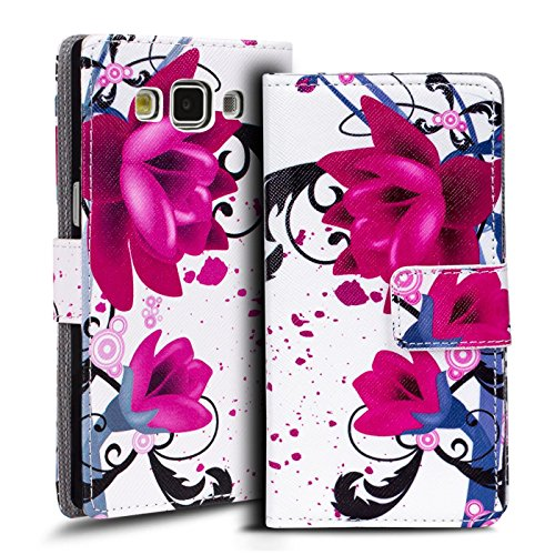 Verco Handyhülle Galaxy A5 2015 Muster, Motiv Hülle für Samsung Galaxy A5 A500 Book Case Flip Cover - Design 6