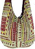 Guru-Shop Sadhu Bag, Umhängetasche, Blockdruck Hippie Schultertasche - Ethno/Muster, Herren/Damen, Mehrfarbig, Baumwolle, Size:One Size, Bunter Stoffbeutel