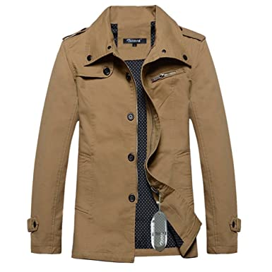 Zicac Spring Autumn Mens Military Slim Fit Casual Lightweight Warm ...