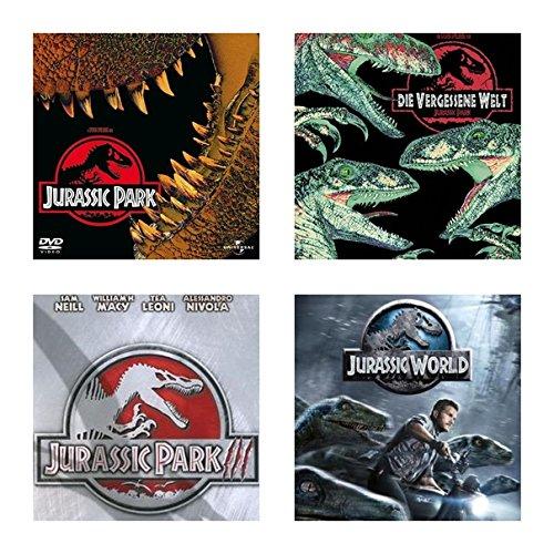 Jurassic Park 1+2+3+4 - 4 DVDs -SET- 4 Filme- ( 1+2+3 + Jurassic World)