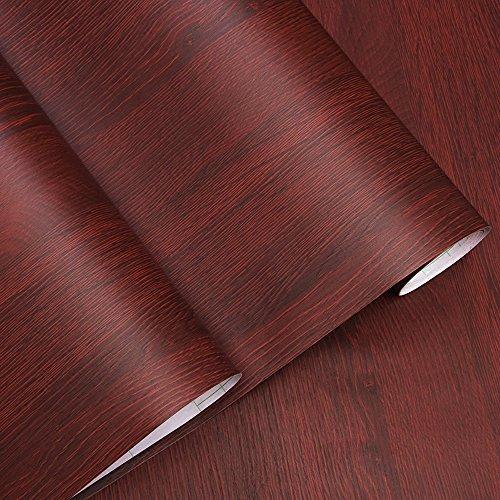 Dekorative Faux Holzmaserung Kontakt Papier Vinyl selbstklebend Regal Schublade Liner für Badezimmer Küche Schränke Regale Kunst und Handwerk Aufkleber 61x 297,2cm