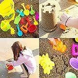 6pcs giocattoli da spiaggia set sabbia per stampi per bambini con giocattoli di colore brillante