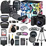 Canon EOS 80D DSLR Camera Deluxe Video Creator Kit