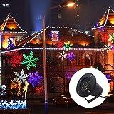 Gimify Projektor-Schnee LED Bewegung Licht Außen Wasserdicht Decoration für Weihnachten Abend Geburtstag Bar Garten Mehrfarbig