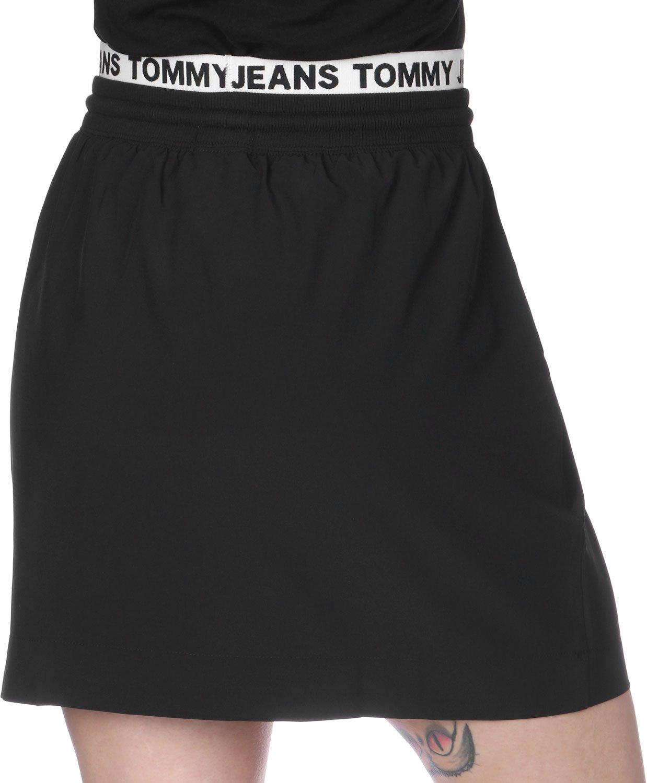 Falda Tommy Jeans Logo S Negro