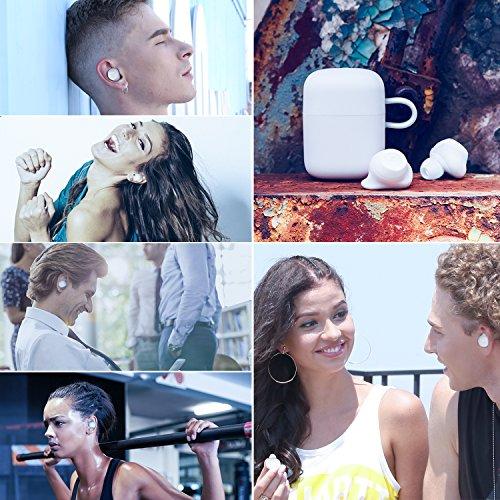 HAVIT Bluetooth Kabellose Kopfhörer in Ear V5.0, Sport Ohrhörer, IPX5 Wasserdicht, 18 Stunden Abspielzeit, Aufbewahrungsbox mit Ladefunktion,Eingebautes Mikrofon für iPhone,Samsung und Huawei, HTC - 7