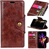 HTC U12 Life Case, Danallc Luxury PU Leather Wallet Flip Protective Stand Case Cover With Card Slots And Stand For HTC U12 Life Brown