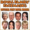 8 Pack of Royal Family Celebrity Facemasks Wedding Jubilee Party Supplies Celebrities Face Mask Hen and Stag Parties Fancy Dress