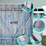 duschvorhang mit holz bilder Vorhang wasserdichte antibakterieller,3D Duschvorhänge Set Schimmelresistent Stoff mit 12 Kunststoff Haken zum Bad Zubehör 180 x 180 cm ( 72x72in Retro Holztür )