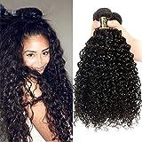 Yavida Curly Hair Extensions Locken Echthaar Remy Brazilian Hair Extension Curly Human Hair Bundles 300g Kinky Curly Hair Natural Color 18 20 22 Inch