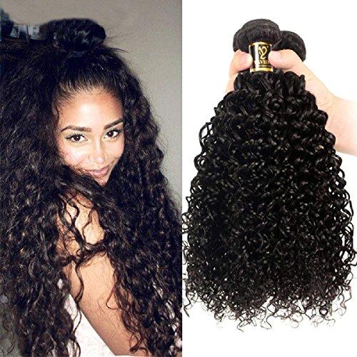 Yavida Tissage Brésiliennes Naturel Kinky curly en lot extensions de cheveux humains bouclés 8A meche bresilienne kinky cheveux bouclée brésilienne 14 16 18 Pouces