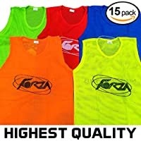 24de9603a175 Net World Sports FORZA Training Bibs Vests (15 Pack) - Perfect For Football