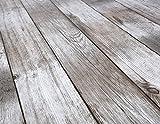 Beautex Holz beige Wachstuch Tischdecke glatt abwischbar Garten Tischdecke RUND OVAL ECKIG, Größe wählbar (Eckig 140x100 cm) - 4