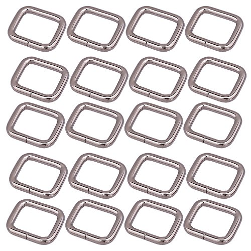 51ee68d27d7c 20 pcs 20 mm en métal rectangle Bague Boucle de sac à main sac à main