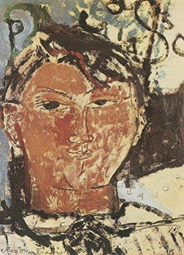 1art1 58480 Amedeo Modigliani - Bildnis Pablo Picasso, 1915, Detail, 2-Teilig Selbstklebende Fototapete Poster-Tapete 250 x 180 cm -