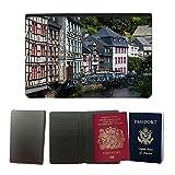PU Pass Passetui Halter Hülle Schutz // M00289920 Monschau Deutschland Fachwerk // Universal passport leather cover