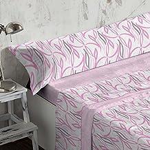 Burrito Blanco - Juego de sábanas Coralina 949 Rosa para cama de 200x200 cm