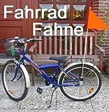 Kinderfahrradfahne für mehr Sicherheit, Kinder Sicherheits Fahrrad Fahne, orange (LHS)