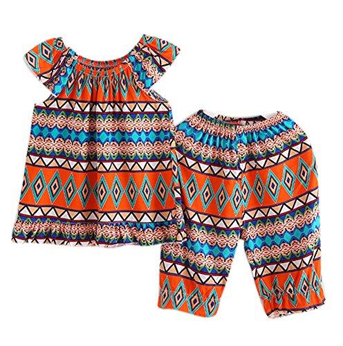 Mädchen Kleidung Set, Mode Blume Weste Top und Hosen zwei Stücke Set Kleidung Kinder Kleidung Set für 3-8 Jahre alt